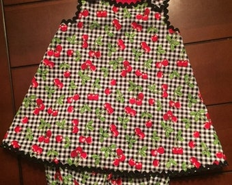 Toddler girl sundress and bloomers (size 18 months)