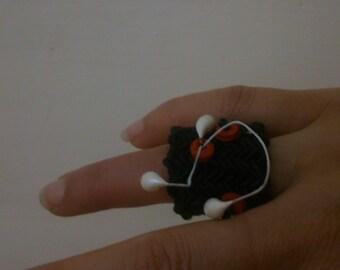 Boho ring, Crochet ring