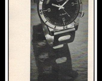 "Vintage Print Ad May 1969 : Wyler Incaflex Tri-Sport Watch Wall Art Decor 3"" x 11"" Print Advertisement"