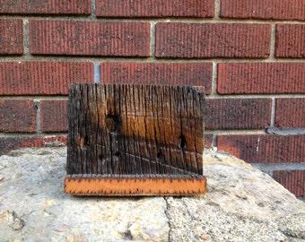 Oak Barn Wood Napkin Holder