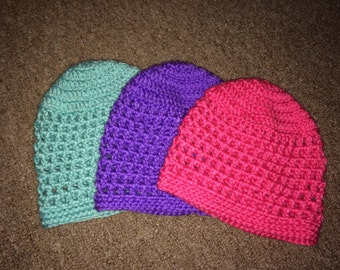 Adorable little girls crocheted hat!