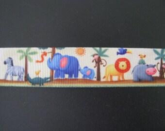 """zoo grosgrain ribbon 7/8"""" per 1 metre scrapbooking card making craft hair"""