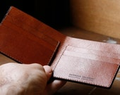 Kangaroo Leather Wallet Classic EXTRA - Australian, Black, Walnut Brown, Mocha, Chestnut, Natural, Red, Hand Stitched, Billfold Wallet,