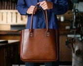 Large Tote - Brown - One Pocket with Standard International Shipping