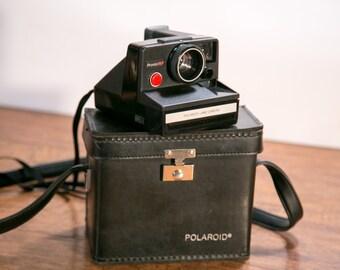 Black Polaroid Pronto! RF Instant Camera with Nice Leather Case