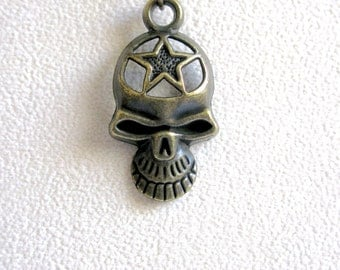 Mens Skull Necklace, Halloween Jewelry, Mens Gothic Necklace, Skull Jewelry, Goth Necklace