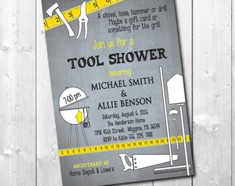 TOOL Shower Invitation/ Digital file or printing/ wording can be added or changed