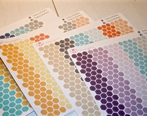 Mini Hexagon Planner Stickers for Inkwell Press