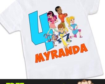 Fresh Beat Band of Spies Personalized birthday Tshirt Shirt