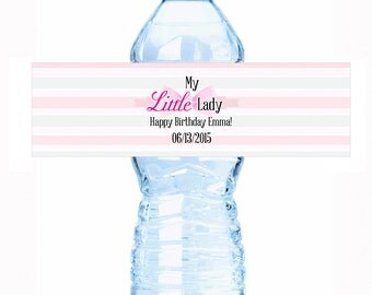 """20 My Little Lady Birthday Water Bottle Labels - Select the quantity you need below in the """"Pricing & Quantity"""" option tab"""