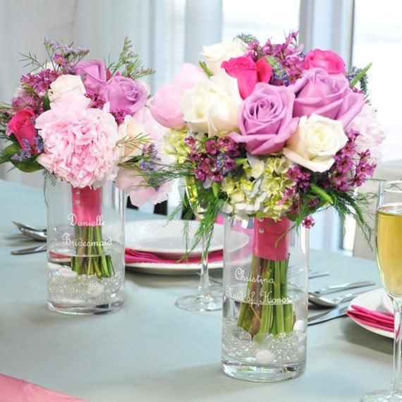 Bridesmaid Keepsake Reception Bouquet Vases Bridesmaids Vase