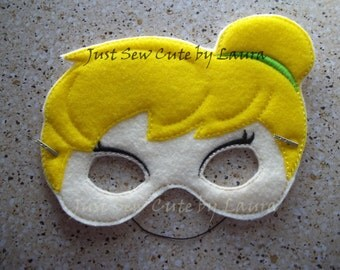 Tinkerbell machine embroidered mask