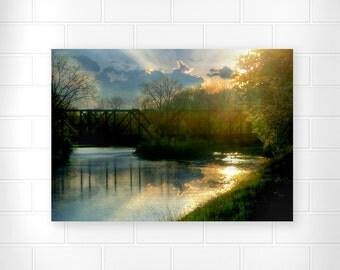 Train Bridge - Photo Print - Country Home Decor - Scenic Wall Art - Landscape Photo - Home Decor - Fine Art Prints - Wall Decor - Nature Art