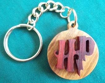 Harry Potter Keychain, Wizard Keyring, Harry Potter Gift, Handmade Wood Keyring
