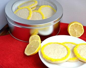 Lemon Shortbread Cookies, Gourmet Cookies, Sweet Treat, Shortbread Cookie, Butter Cookies, Homemade Cookies, Shortbread, Cookie Gift