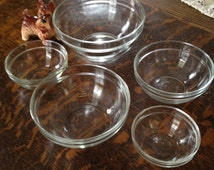 Bowls French Nesting Mixing Bowls Sou Chef Ingredients Bowls Baking Cooking Bowls Nesting Bowls Clear Glass Mixing Bowls French Mixing Bowls