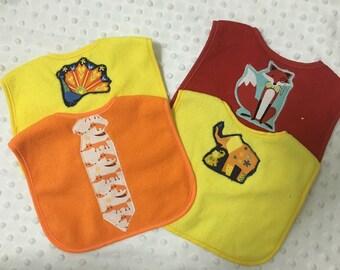 Baby boy bib gift set - four bibs