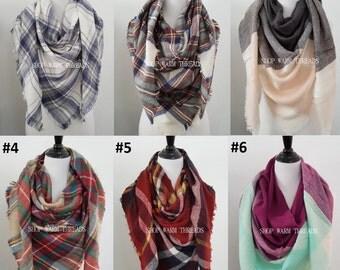Plaid Blanket Scarf, Blanket Scarf, Tartan Plaid Scarf, Tartan Scarf, Blanket Scarf, Oversized Scarf, Oversized Blanket Scarf, monogrammed