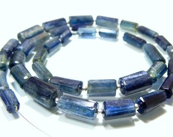 KYANITE Faceted Beads Tube Shape 7X13 To 10X17.mm Approx 100% Natural Top Quality Wholesale Price New Arrival