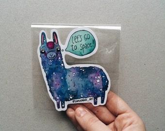 Lama Sticker