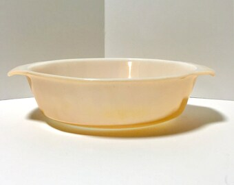 Peach Luster Casserole Dish