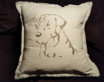 Pillow Handmade Lab or Paris Stamp Pillow SALE