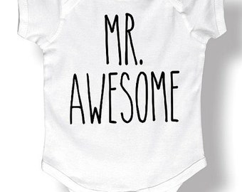 Mr awesome funny baby onesie/father to be / mother to be