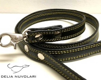 Leash. Leather Leash. coordinated collar leash. Whippet collar. Greyhound Collar Leash. Leather. Handmade. Italian Greyhound collar. Leather