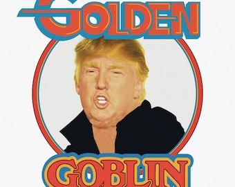 "Donald Trump ""Golden Goblin"" 4""x4"" vinyl sticker pack (10 stickers)"