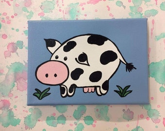 Cow Painting, 5x7