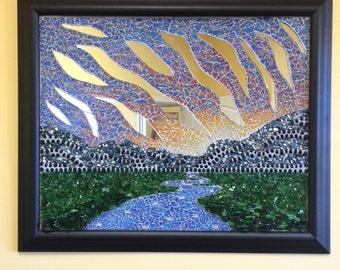 Sun set sequel mosaic art