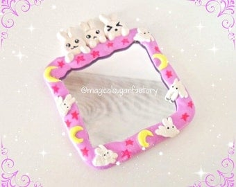 Decoden, handame Mirror, Usagi Bunny Sailor Moon Blanket mirror !! Anime, Cute, kawaii, Sailor Moon. Bunnys