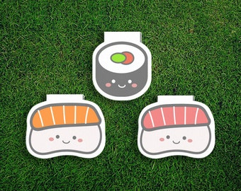 Magnetic Bookmark | Sushi Set Magnet Bookmark, Japan, Japanese, Salmon, Sashimi, Nigiri, Sushi Roll, Cute, Quirky, Kawaii, Food