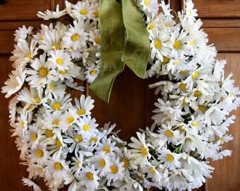 Daisy Wreath | Front Door Wreath | Spring Wreath | Farmhouse Wreath | Summer Wreath | Mother's Day | Housewarming