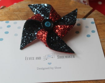 Pinwheel Glitter Hair Accessory