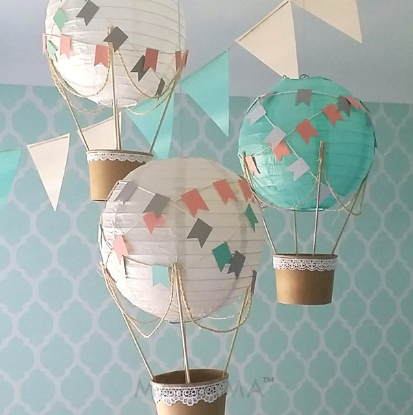 Whimsical hot air balloon decoration diy kit hot air balloon for Balloon decoration ideas diy