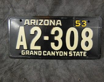 Arizona State Bicycle License Plate - 1953 Bike License Plate -Mini Colorful Metal Signs