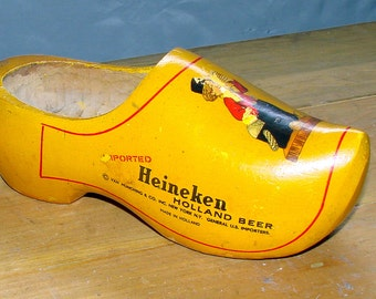 Heineken Beer Wood Shoe Advertising Piece.....Great Beer Collectible