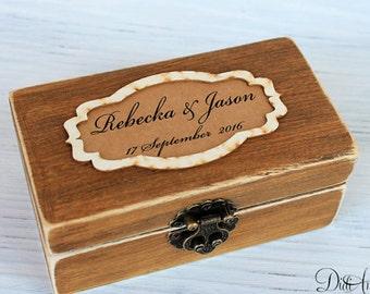 Rustic Ring Bearer Box Wedding Ring Box Personalized Ring Bearer Box Еngagement ring box Pillow Alternative Ring Holder Custom Ring Box Pine