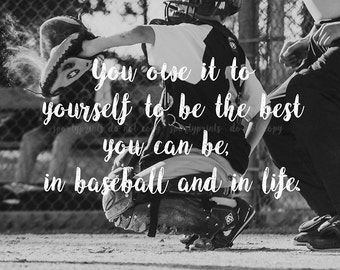 Be the Best You Can Be Baseball Print