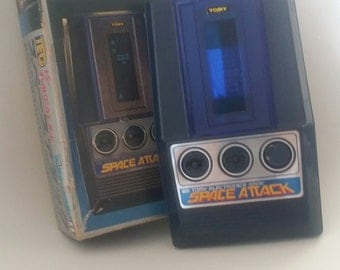 SPACE ATTACK - Spacek Attack TEG Tomy Game - In Original Box - Excellent Condition 1970's