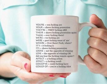 Grammar Mug, Funny Grammar Mug, Funny Grammar Gift, Grammar Gift, Grammar Police  Mug, Grammar Police, gift for grammar mug,Funny Coffee Mug