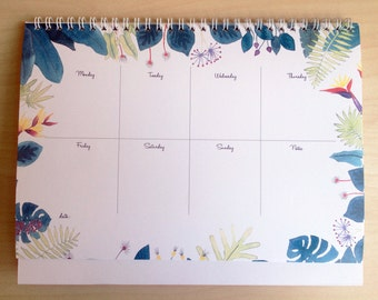 SUMMER FLORALS weekly planner