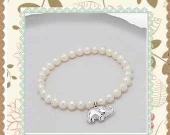 Elephant and Pearls- Free Shipping