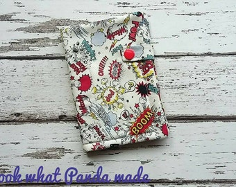 Tampon wallet, comic style, sanitary pouch, privacy pouch, tampon holder, discreet pouch, tampon pouch, sanitary wallet, tampon case
