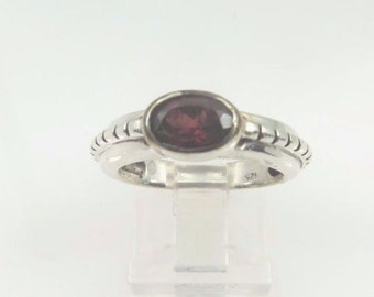Vintage Sterling Silver 925 Garnet January Birthstone Ring