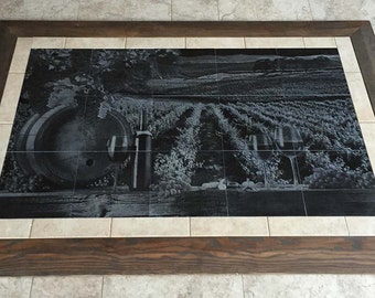Vineyard Granite Floor Tile Mural 3' x 5' ~ Wine Grapes ~ Other Sizes Available!