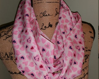 Heart Patterened Infinity Scarf