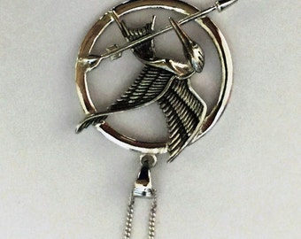 Mocking Jay Necklace - Sterling Silver