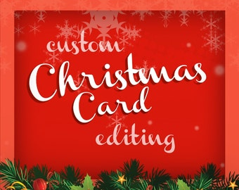 Custom Christmas Card Editing - Photoshop